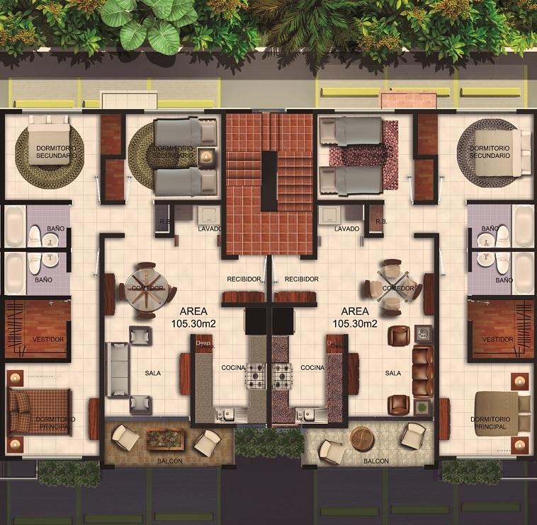 3 de 6: Boque CD 3 Habitaciones