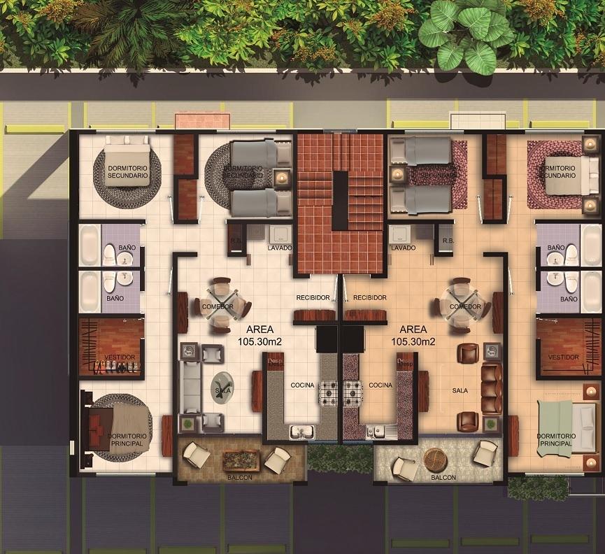 6 de 6: Bloque AB 3 Habitaciones