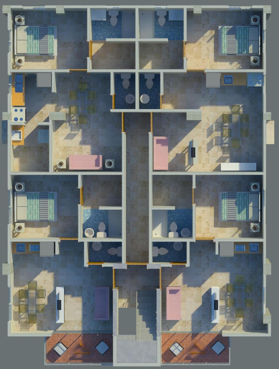 1 de 2: Apartamentos de 1, 2 y 3 habitaciones.