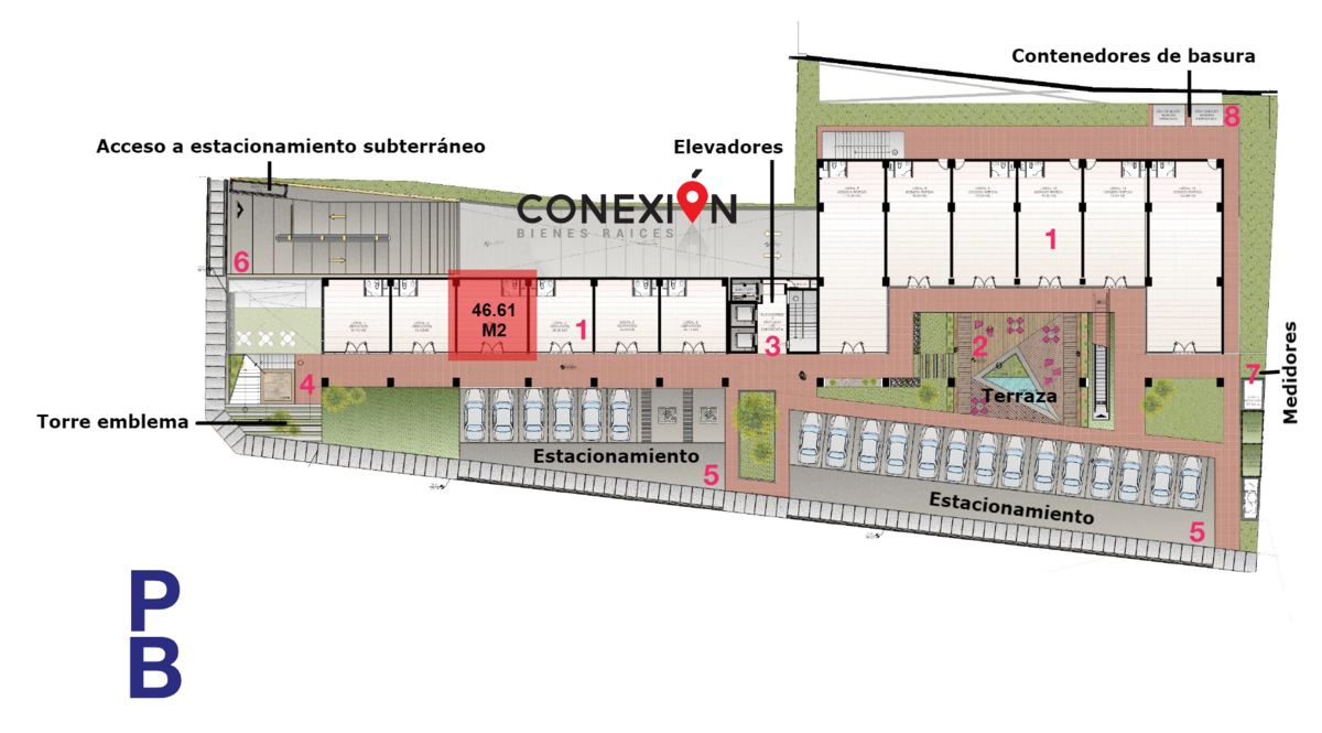 3 de 9: Ubicación de Local Comercial de 46.61 m2.