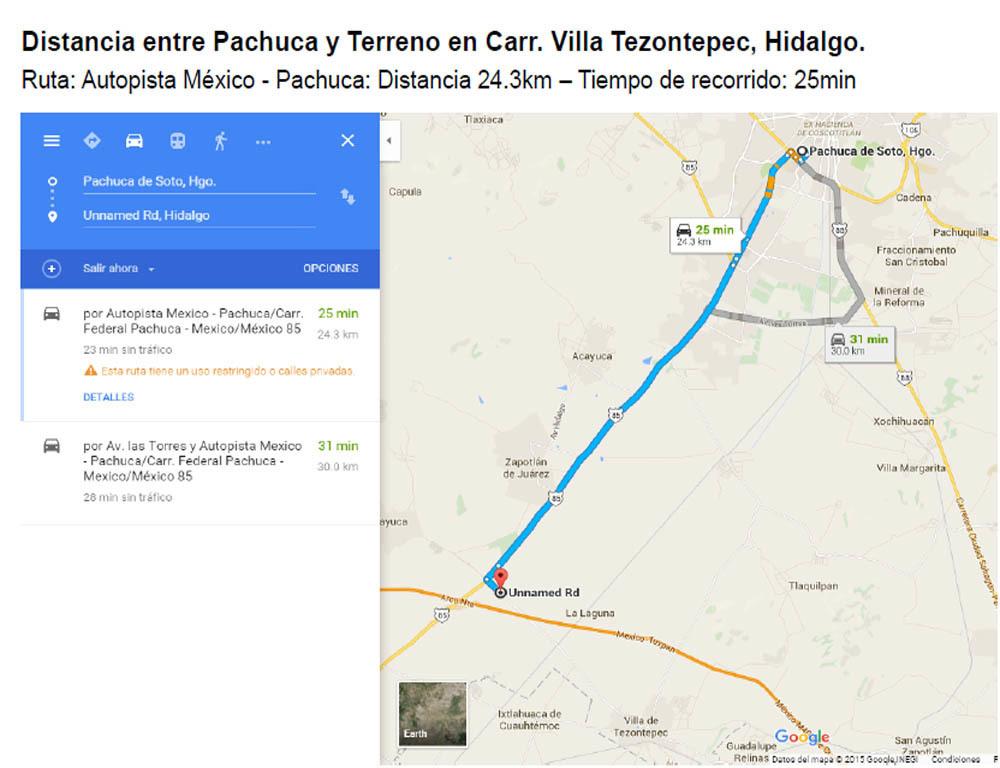 3 de 6: Distancia a Pachuca de Soto 24.3KM (25 mins)
