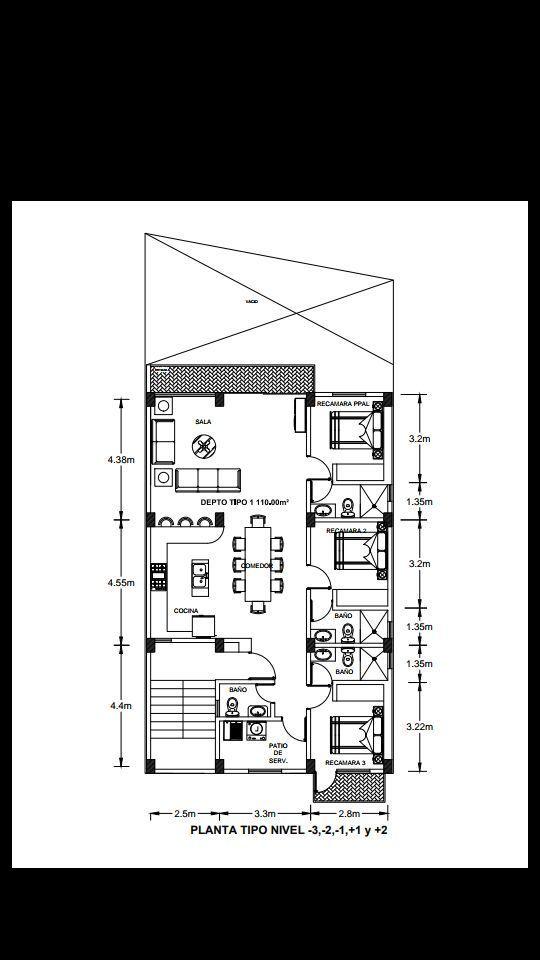 4 de 8: Farallón Pre-venta NUEVO departamento de 3 recámaras