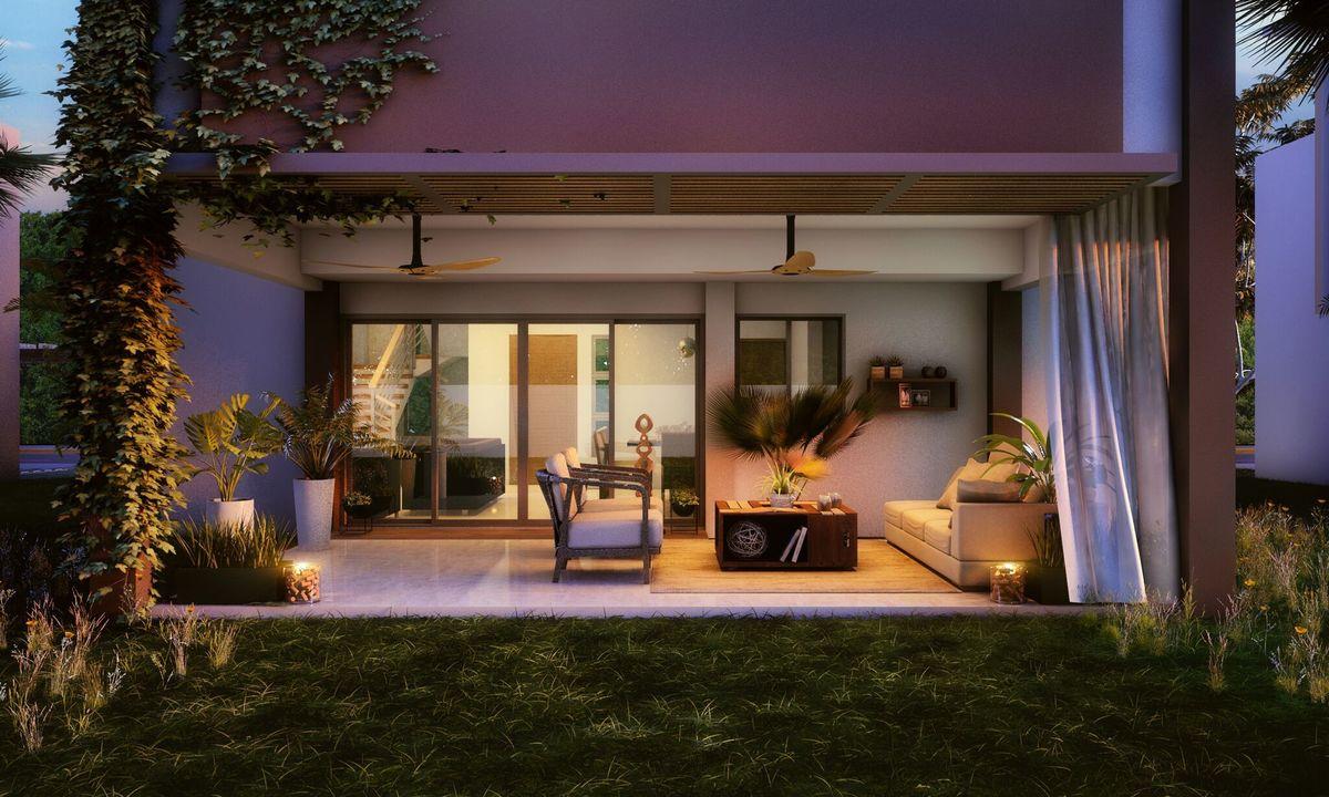 4 de 5: Backyard  Garden Terrace
