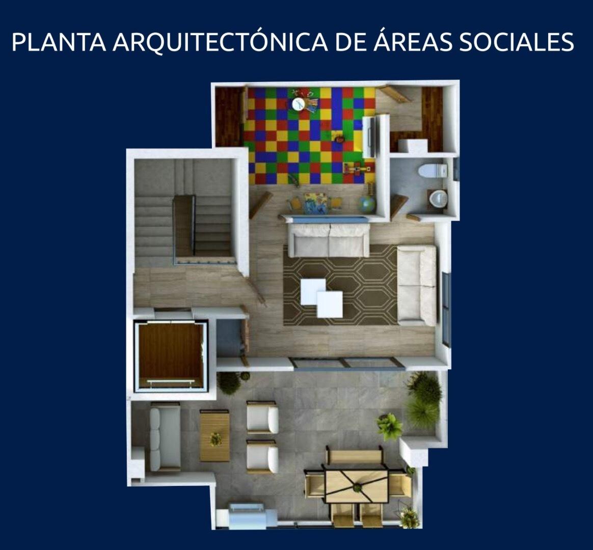 6 de 7: Plano arquitectónico de áreas sociales