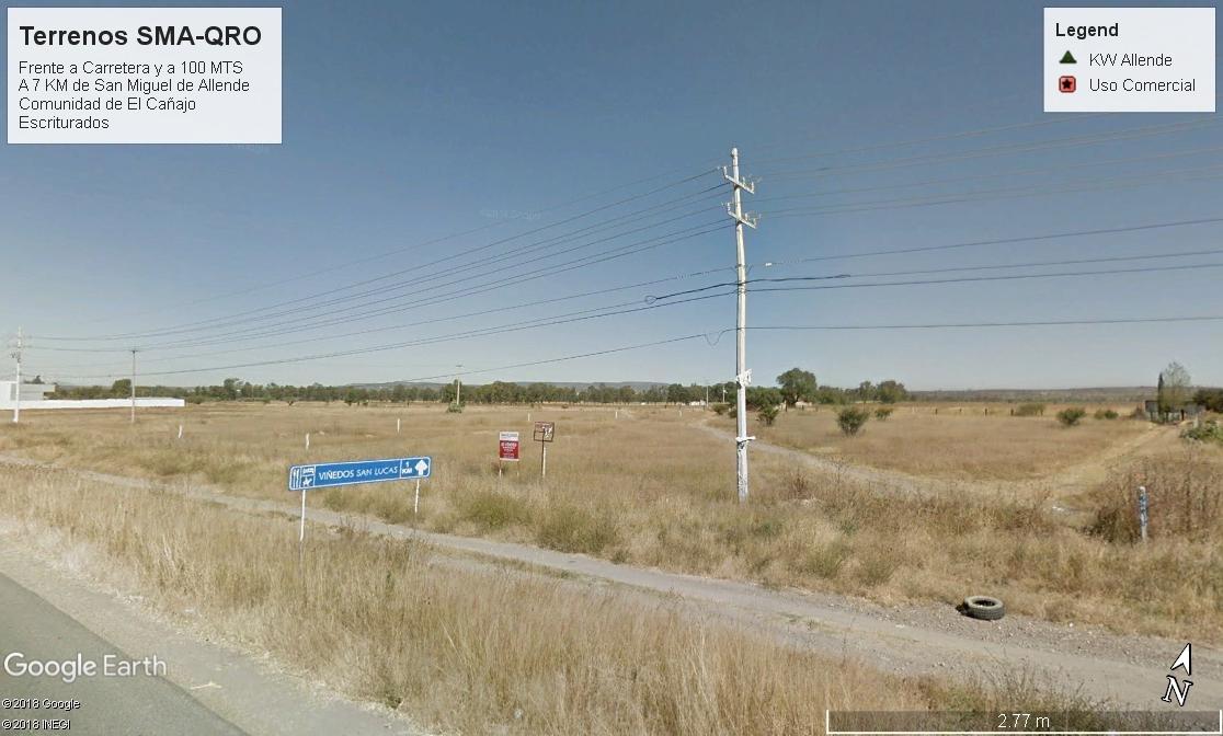 1 of 4: Vista al frente del Terreno sobre carretera federal 111