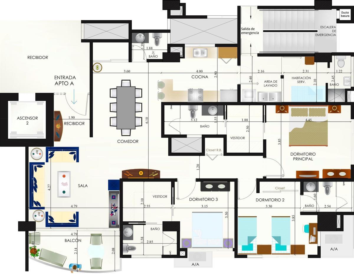 20 de 21: Plano apartamento Tipo A y  B