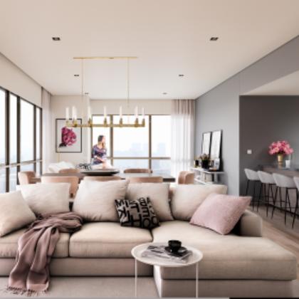 2 de 13: Amplios espacios para estancia con balcón