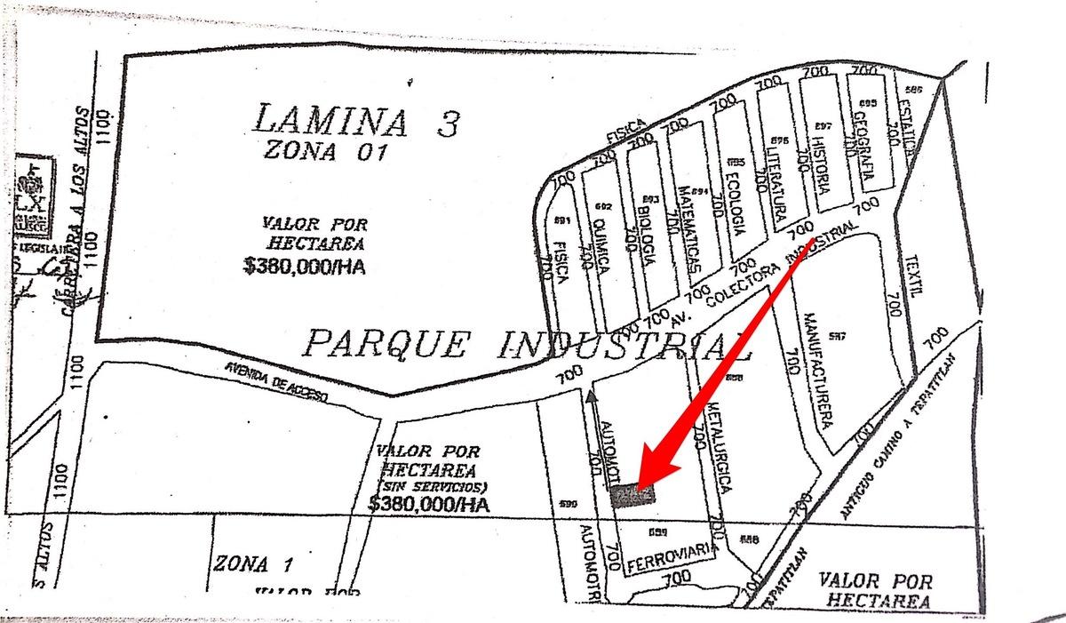 3 de 14: Plano del parque industrial
