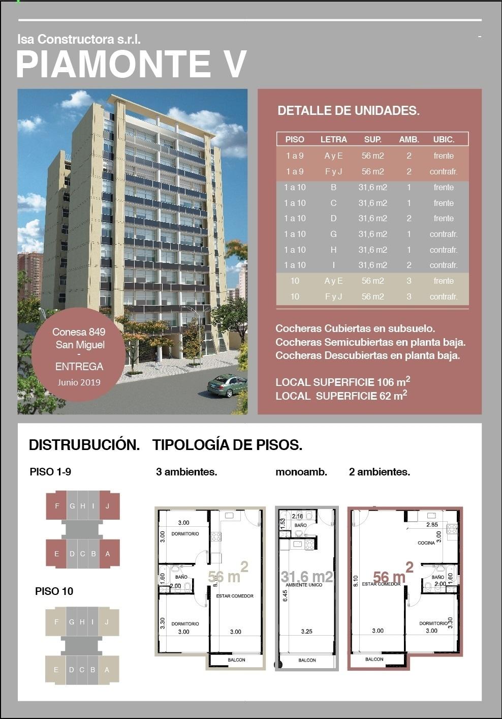 3 de 7: Piamonte V ( 5 ) Conesa 849 Muñiz San venta departamento