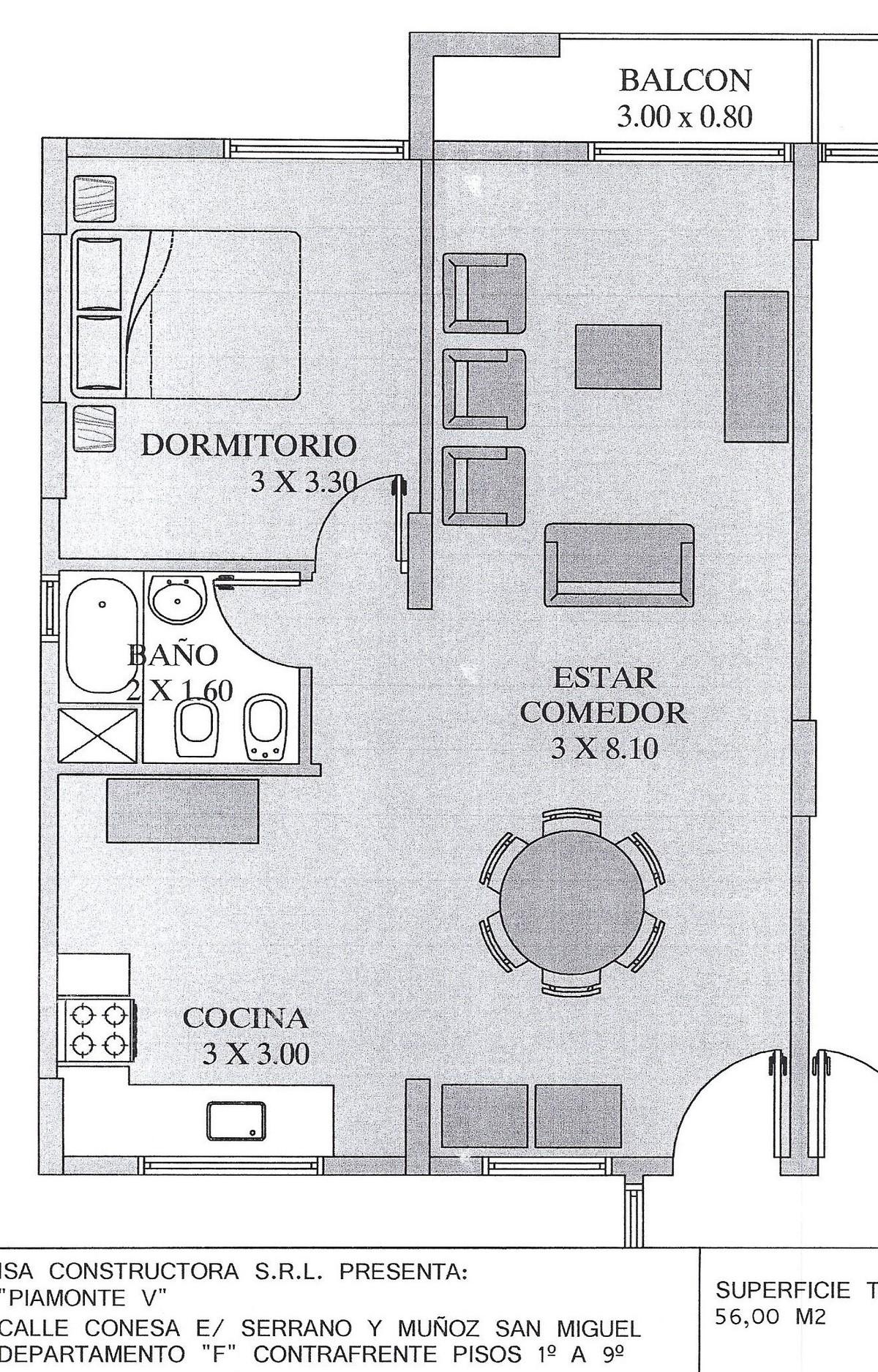 2 de 7: Piamonte V ( 5 ) Conesa 849 Muñiz San venta departamento