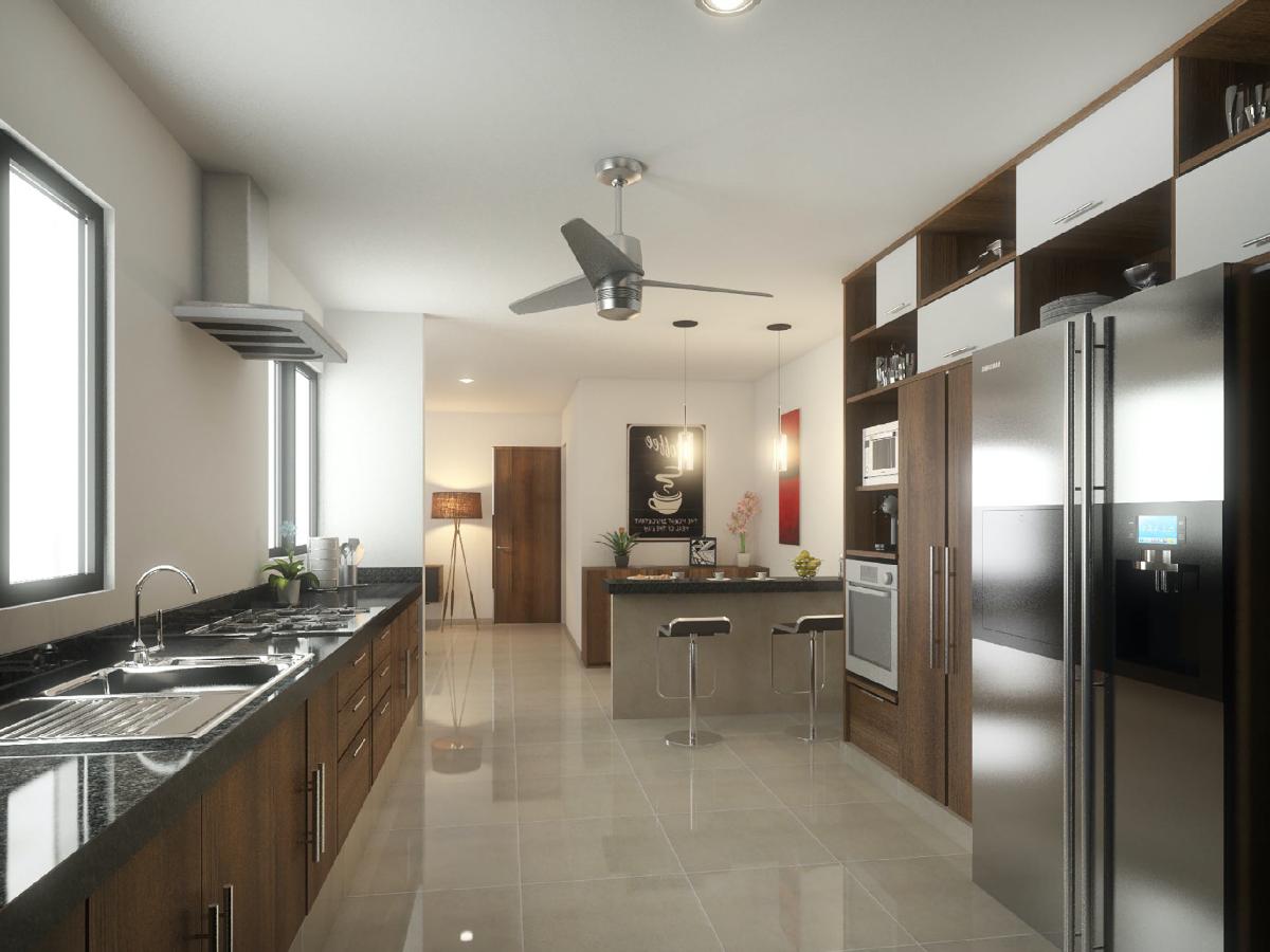 5 de 13: render cocina casa en venta