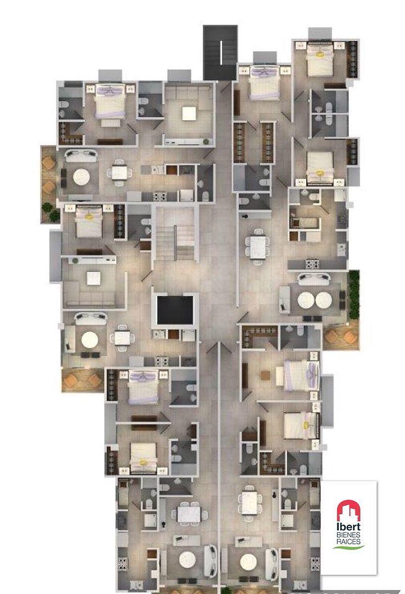 1 de 4: Distribución de Apartamentos