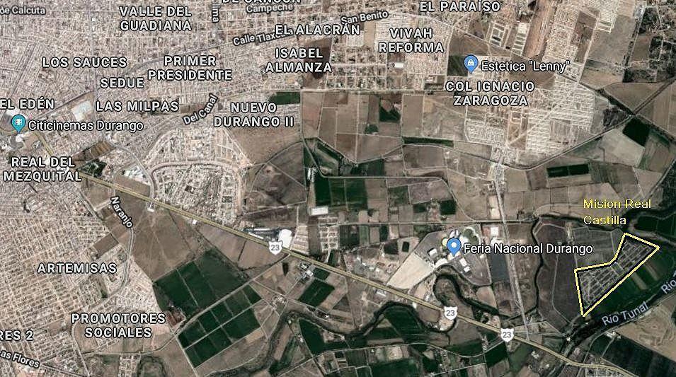 3 de 19: Ubicación satelital del Fraccionamiento