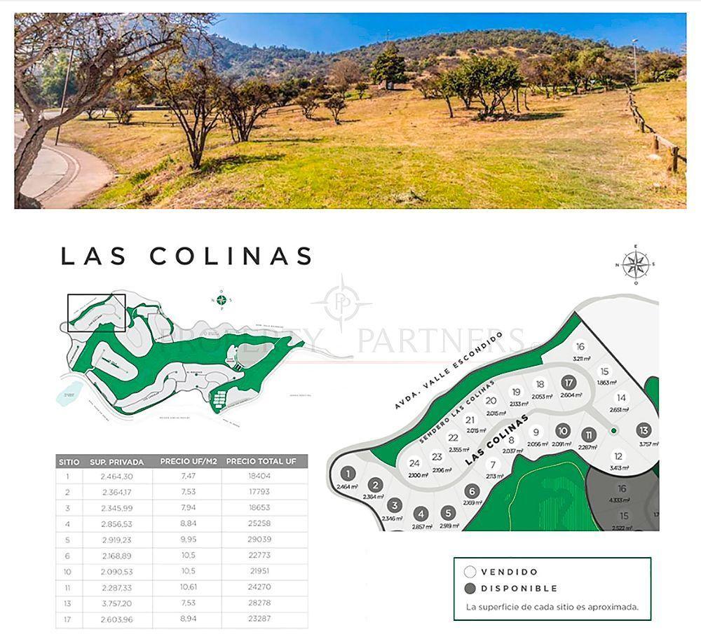 1 de 6: Las Colinas - dimensiones terrenos y valores
