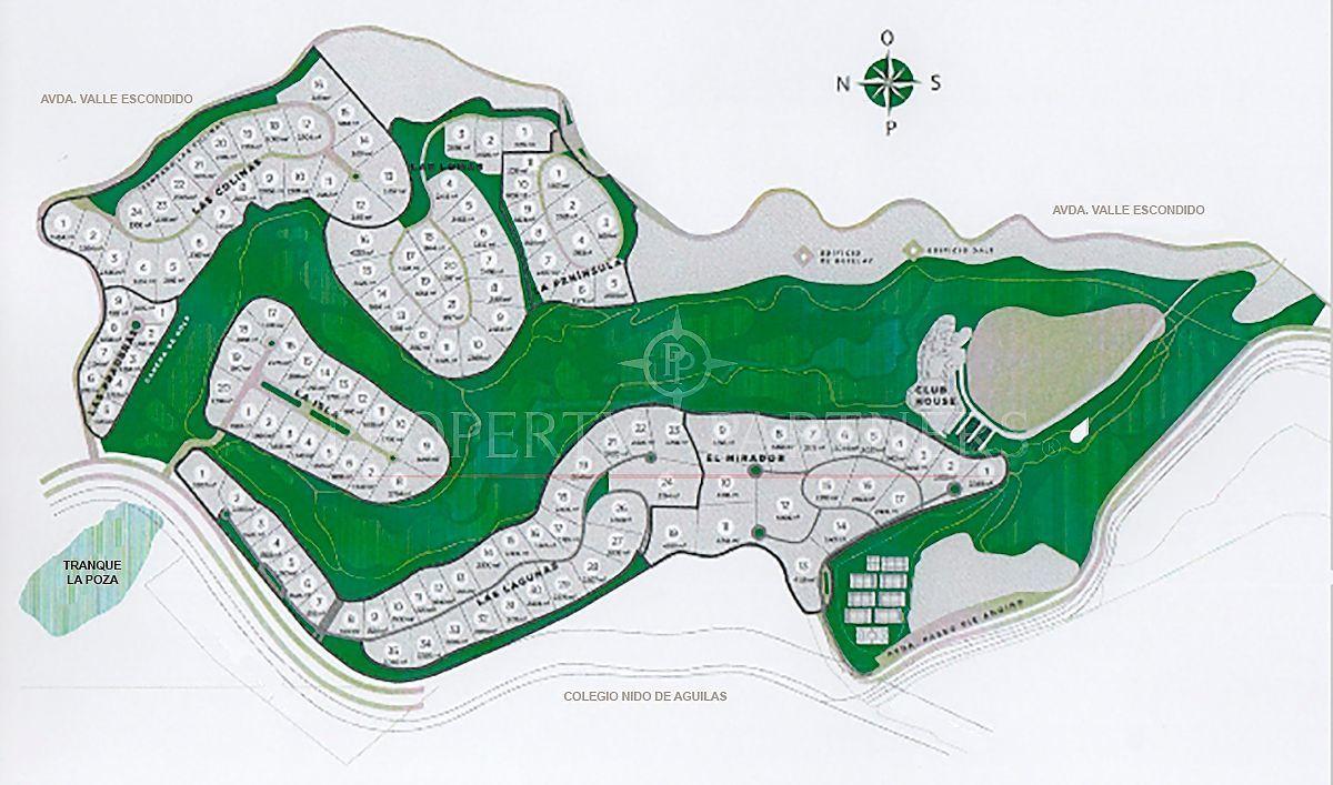 2 de 6: Plano general Valle Escondido