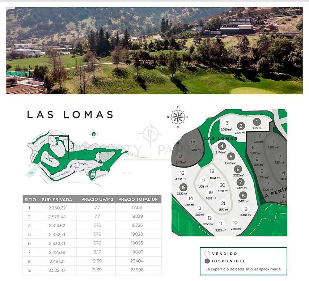 1 de 6: Las Lomas - dimensiones terrenos y valores