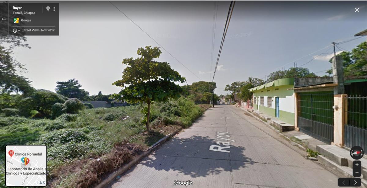 3 de 4: Vista calle frente a terreno
