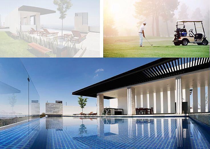 12 de 12: Amenidades: Campo de golf, Alberca, terraza con asadores
