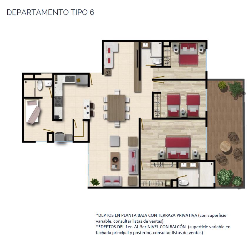 21 de 24: DEPARTAMENTO TIPO 6 142 m2