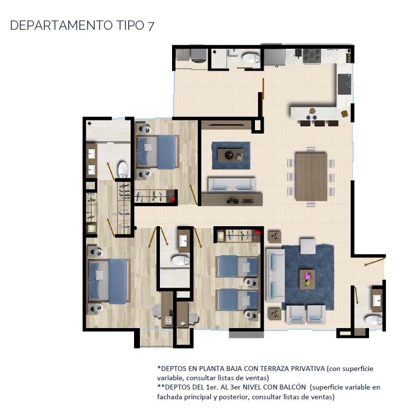 22 de 24: DEPARTAMENTO TIPO 7 149 a 146 m2