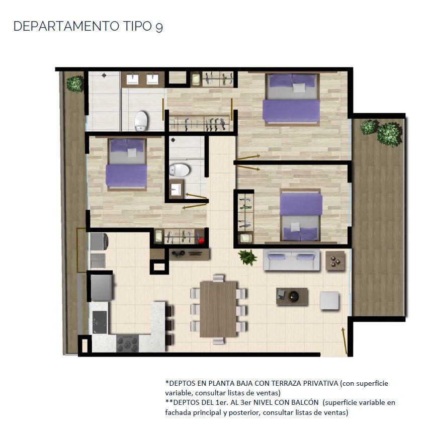 23 de 24: DEPARTAMENTO TIPO 9 114 a 124 m2