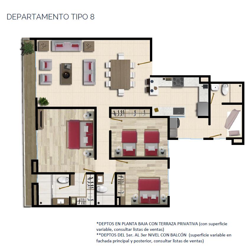 24 de 24: DEPARTAMENTO TIPO 8 143 a 144 m2