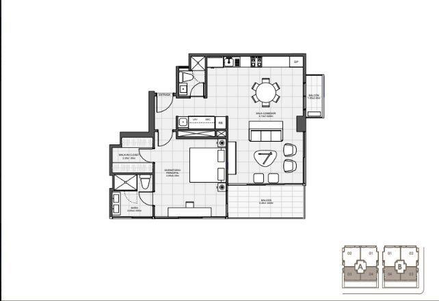 13 de 18: 1 Habitación 85 mts.