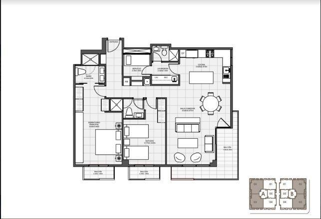 14 de 18: 2 Habitaciones 111 mts.