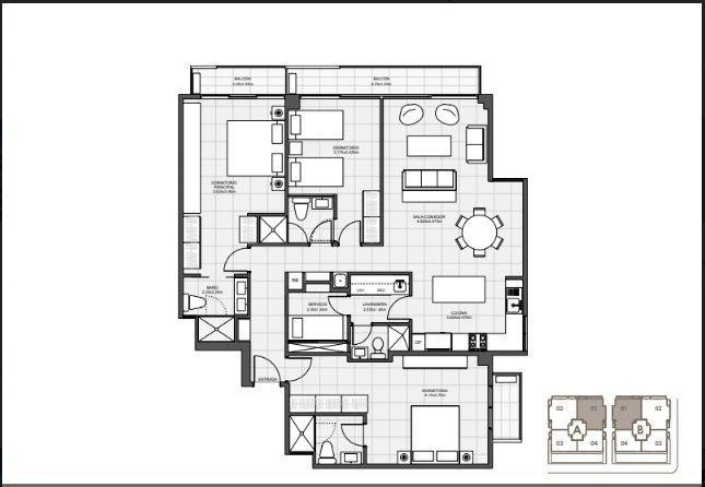 16 de 18: 3 Habitaciones 144 mts