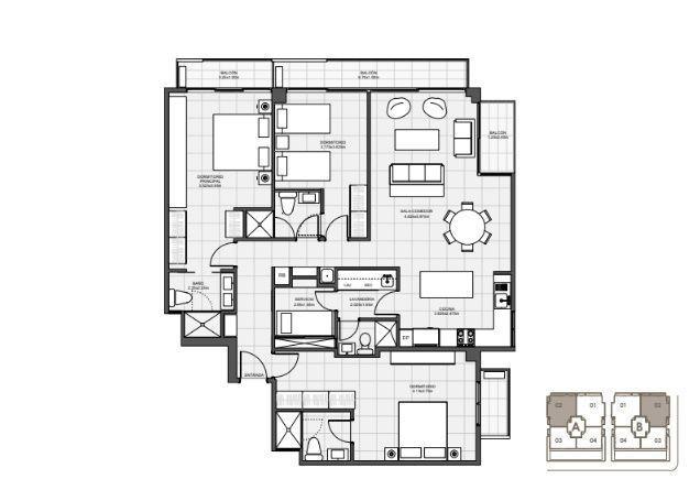 17 de 18: 3 Habitaciones 144 mts