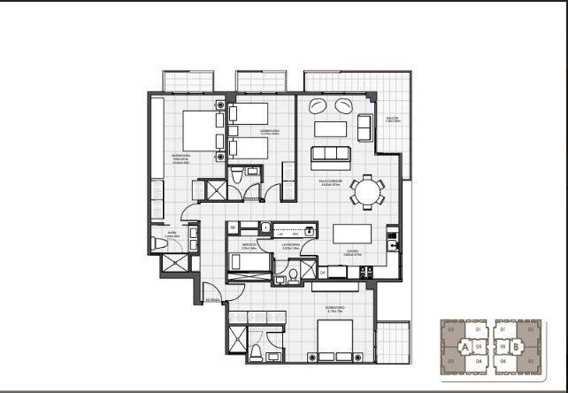 18 de 18: 3 Habitaciones 147 mts.