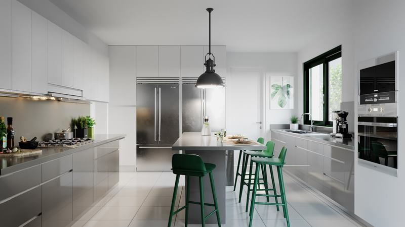 6 de 17: Imagen referencial de la cocina moderna