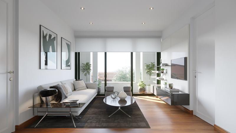10 de 16: Imagen referencial sala de estar en área familiar