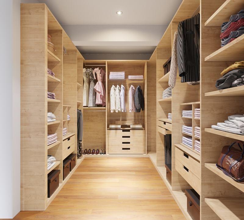 9 de 17: Imagen referencial del walk in closet