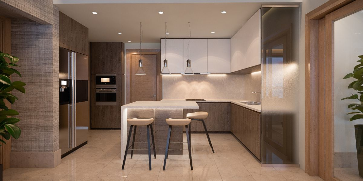 5 de 13: Cómoda circulación dentro de la cocina