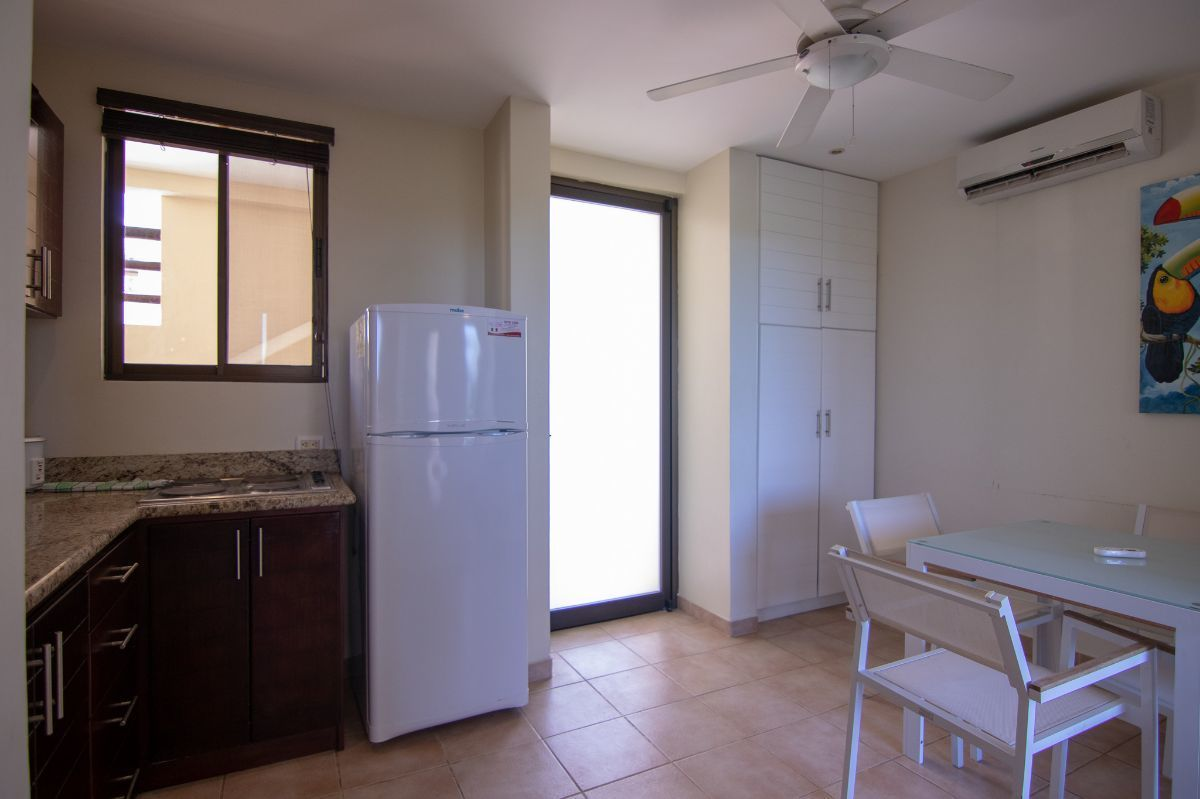 3 of 14: Living room with equipped kitchen