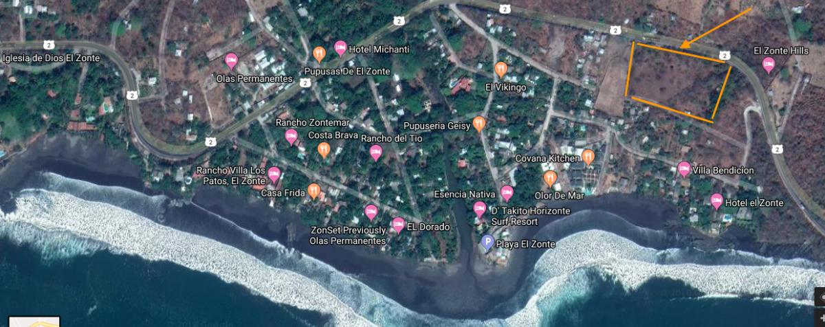 3 de 34: Ubicacion Playa El Zonte