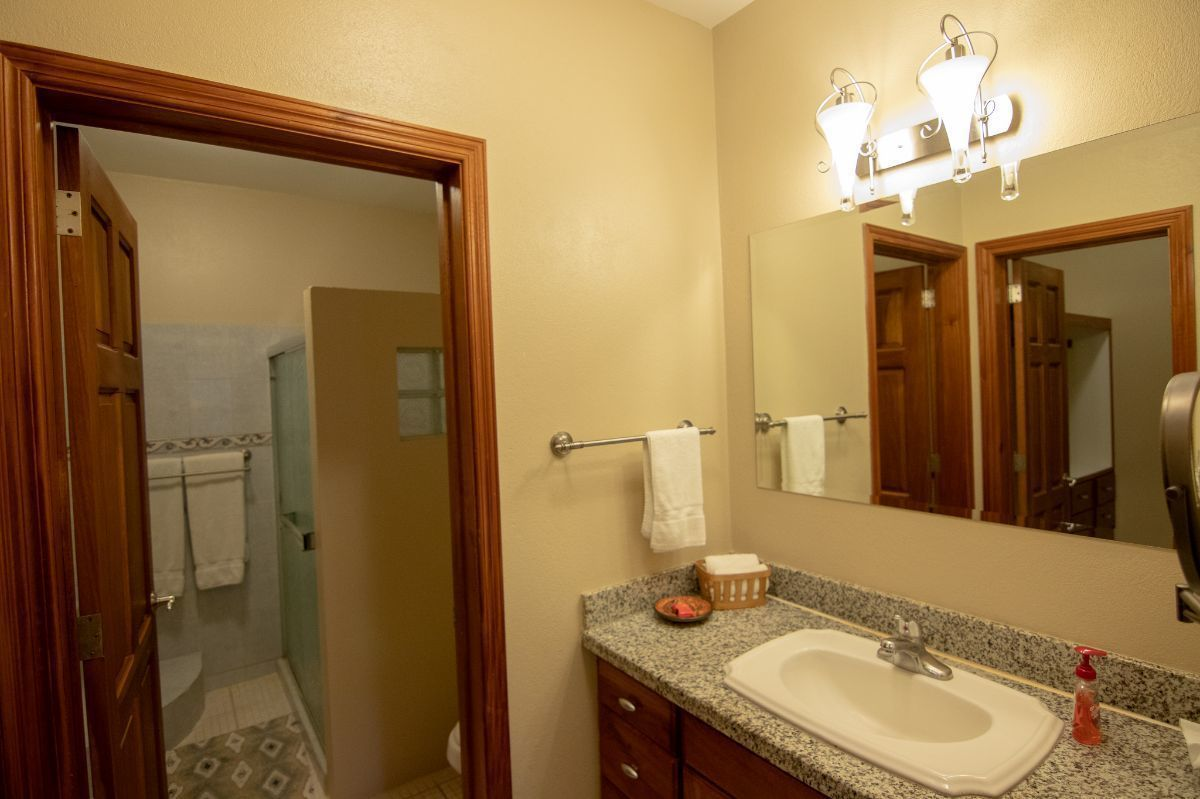 13 of 21: Master bathroom with walk in closet, shower and bathtub