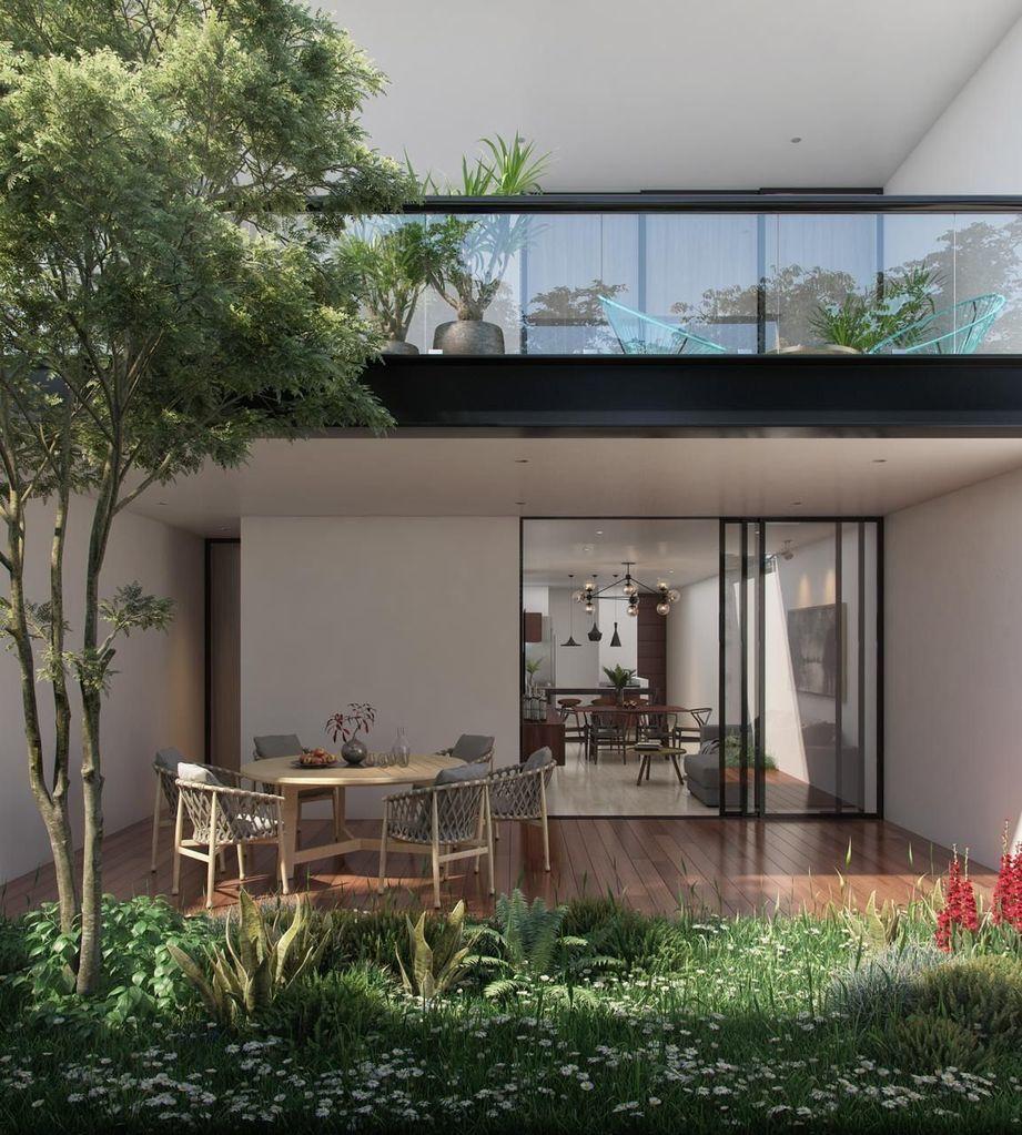 1 de 12: Terrazas techadas, los de planta baja con piscina.