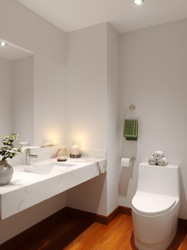 8 de 21: Imagen referencial del baño de visita