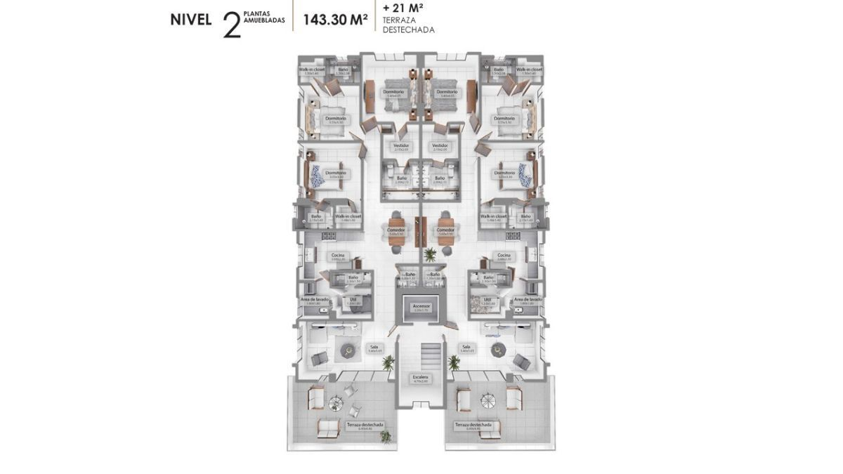 9 de 11: Plano dimensional del nivel 2.