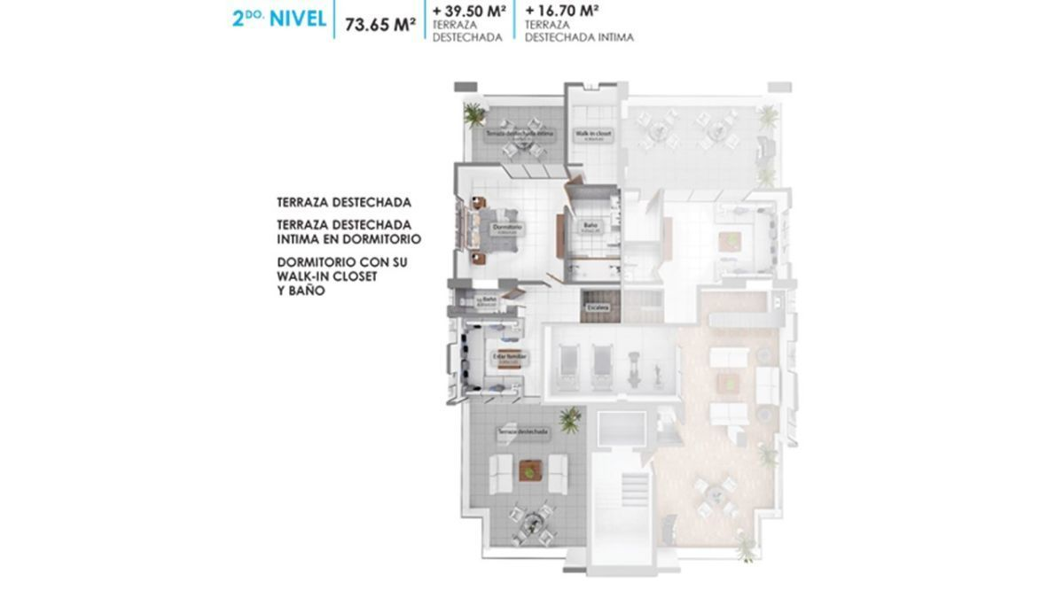 8 de 11: Plano dimensional de la  Terraza destechada 2do. nivel