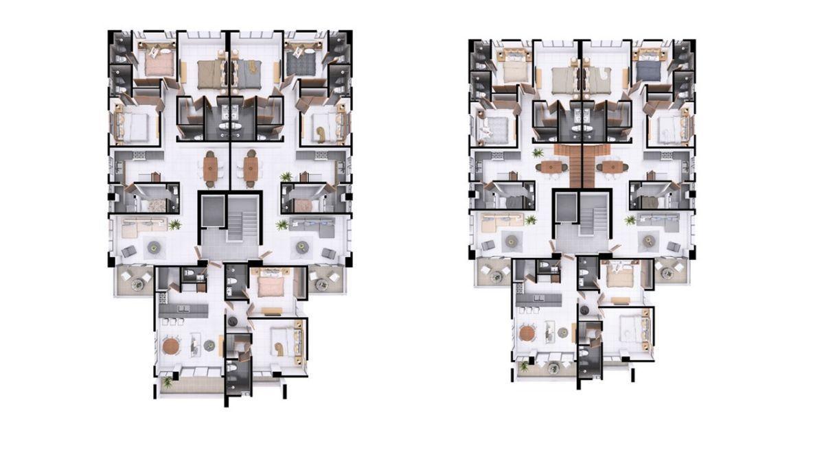 14 de 14: Plano dimensional niveles del 3 al 4 y nivel 5