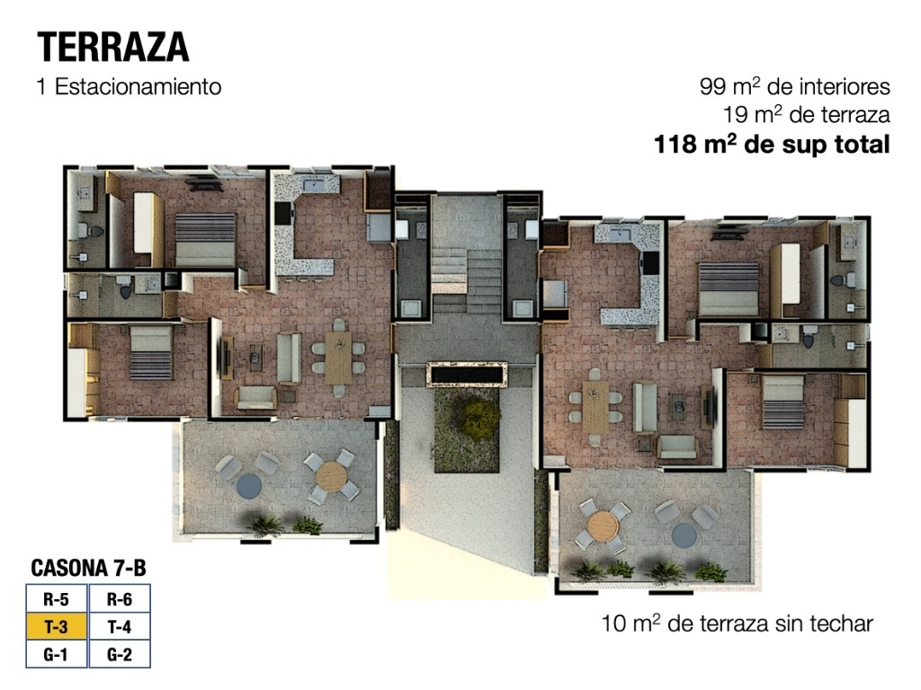 3 of 5: Floor plan del Departamento