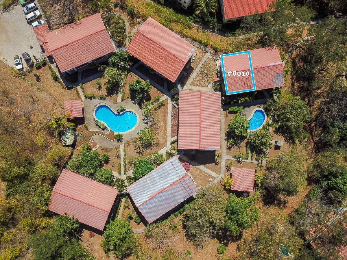 15 of 15: Aerial view of waterfall level and location of the condo