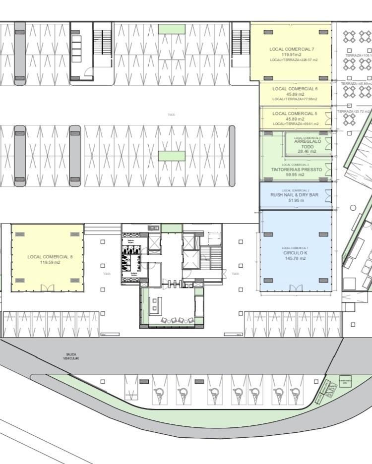 5 de 7: Locales comerciales disponibles en planta baja del edificio