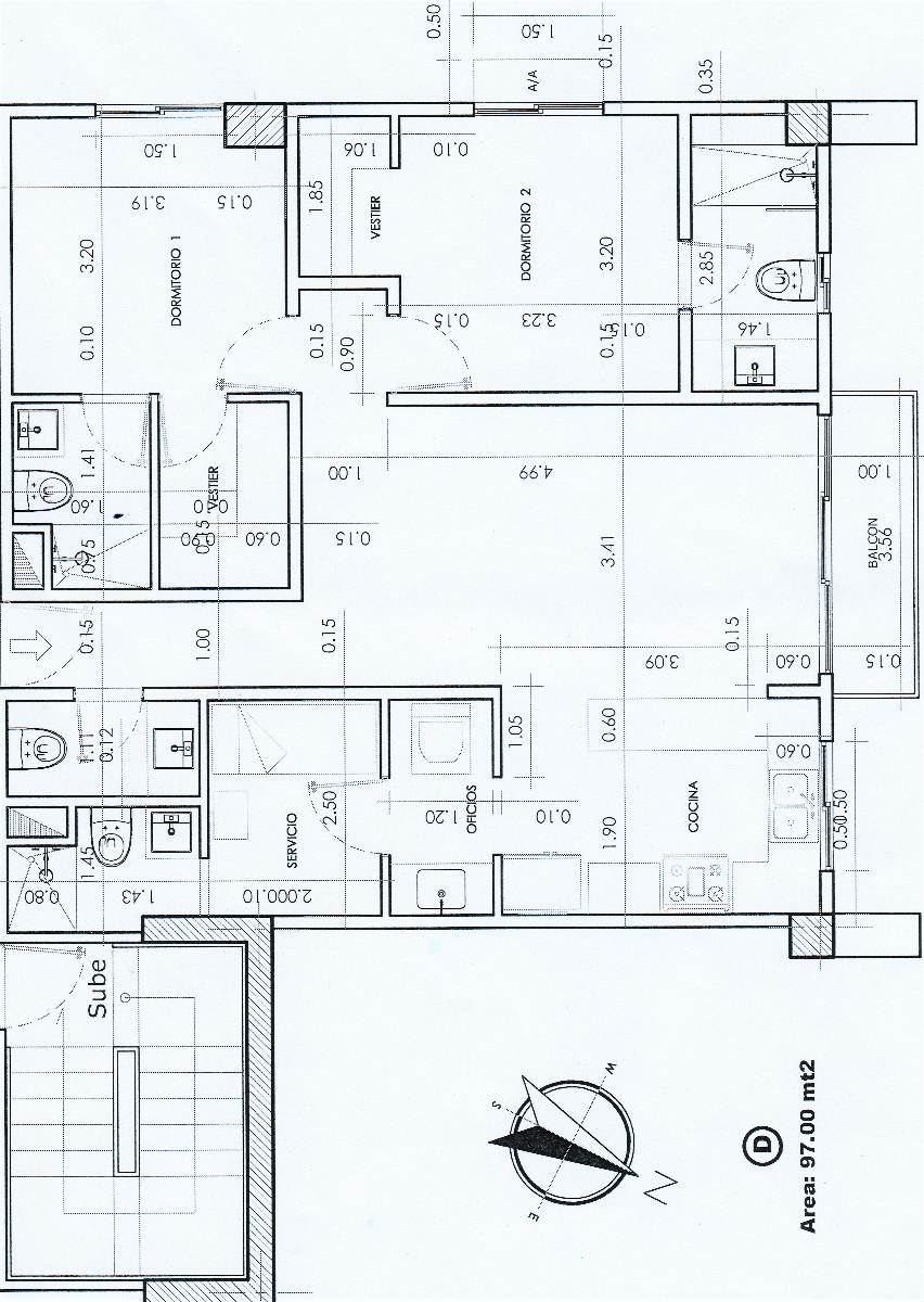 13 de 14: Planta arquitectónica dimensionada.