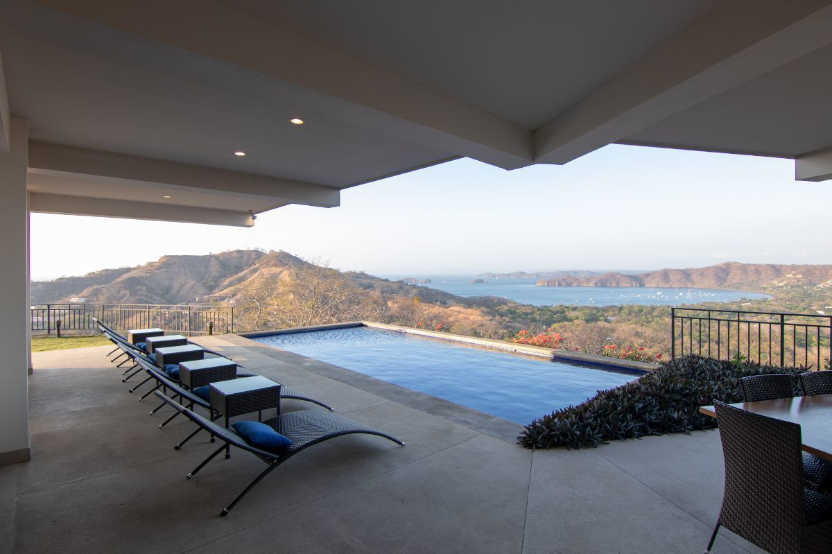 3 of 35: Terrace and private pool overlooking Playas del Coco