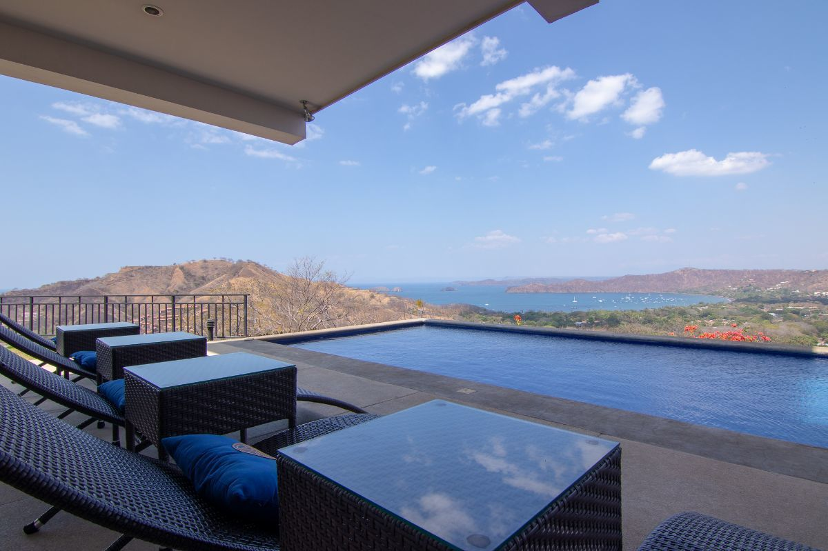 2 of 35: Terrace and private pool overlooking Playas del Coco