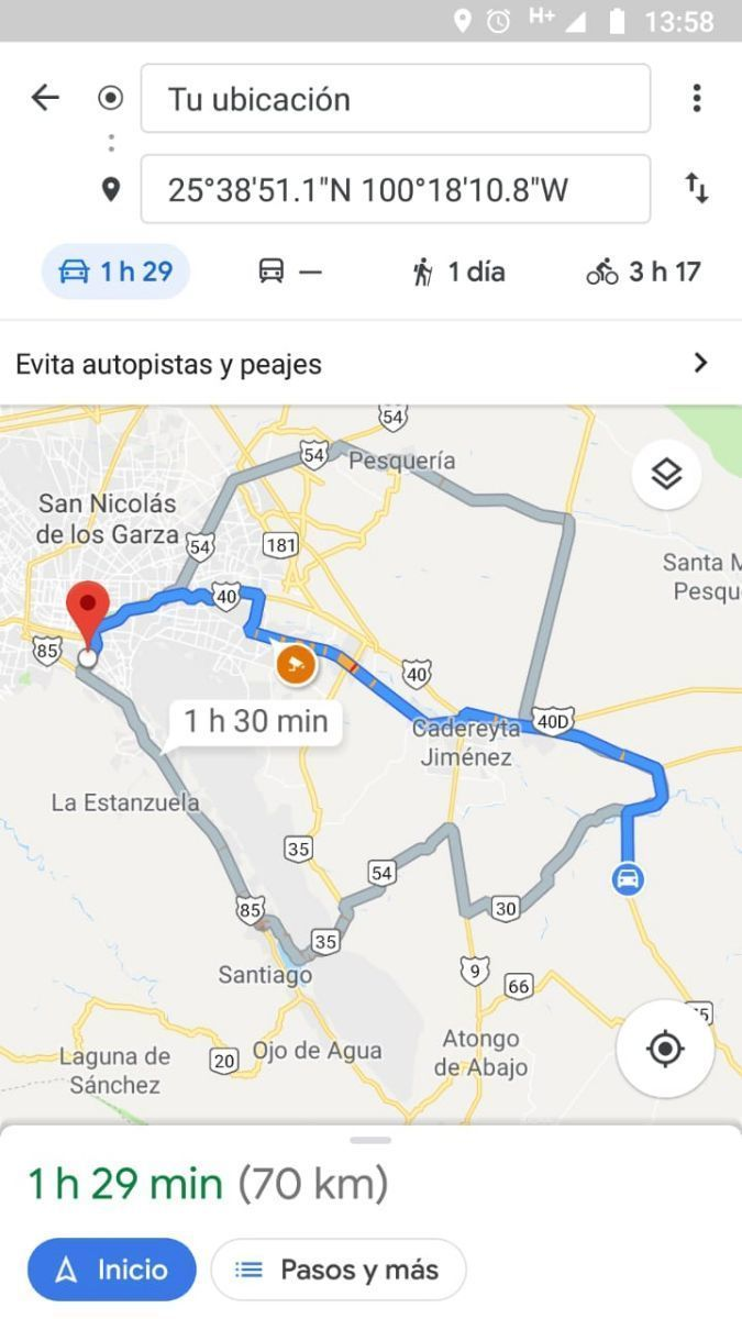 8 de 11: MAPA MONTERREY-CADEREYTA
